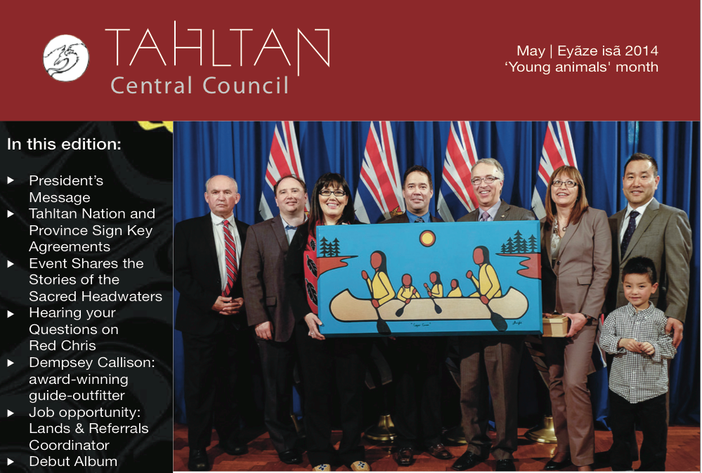 The Tahltan Central Council's May 2014 Newsletter is Available!