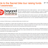 Cycle to the Sacred bike tour raising funds and awareness