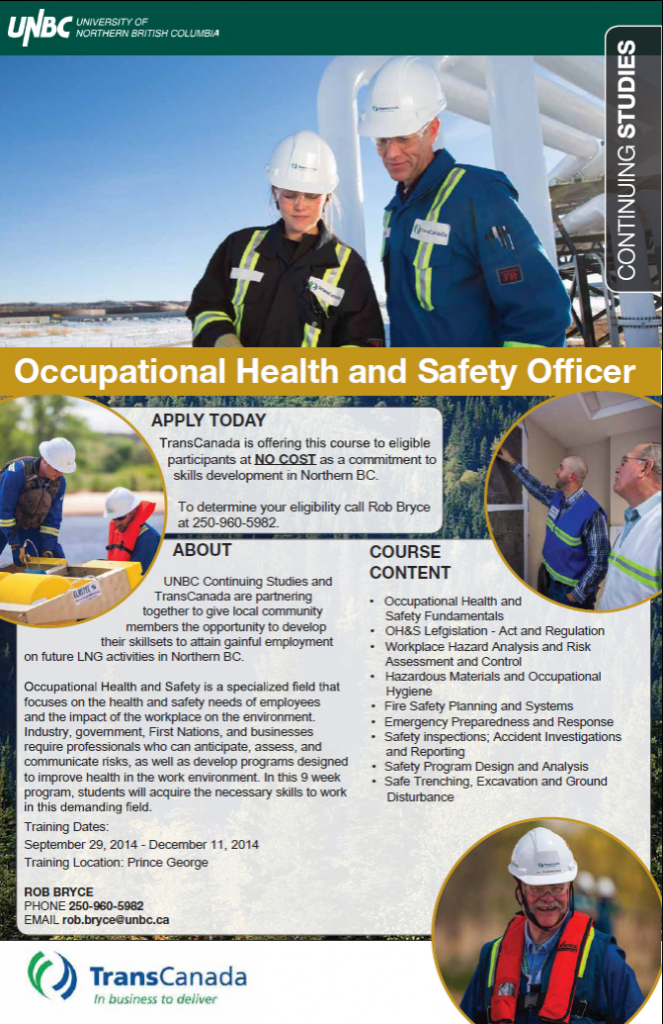 UNBC / TransCanada Funded Occupational Health & Safety Program