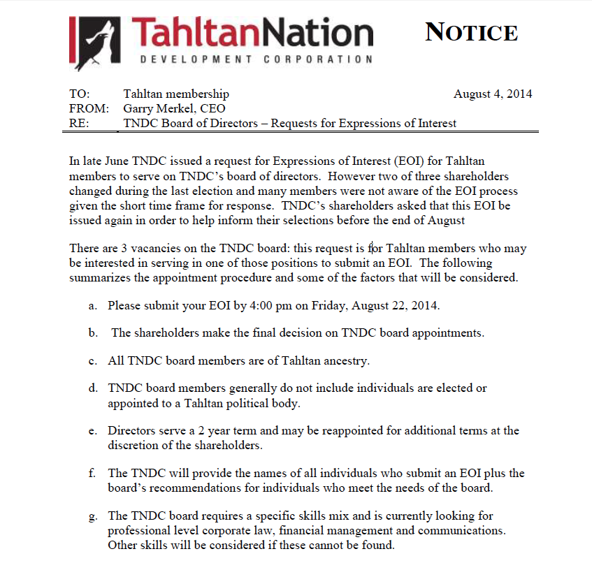 Your chance to be involved with TNDC