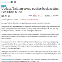 Update: Tahltan group pushes back against Red Chris Mine