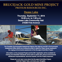 Brucejack Gold Mine Project: Open Houses (Dease Lake and Iskut)
