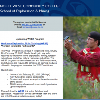 Northwest Community college upcoming WEST Program