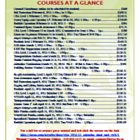 Northwest Community College - February, March, and April courses at a glance