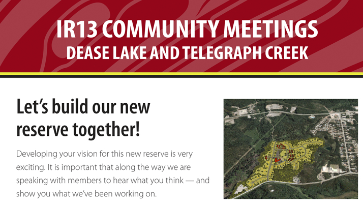 Let's build our new reserve together! IR13 Community Meetings